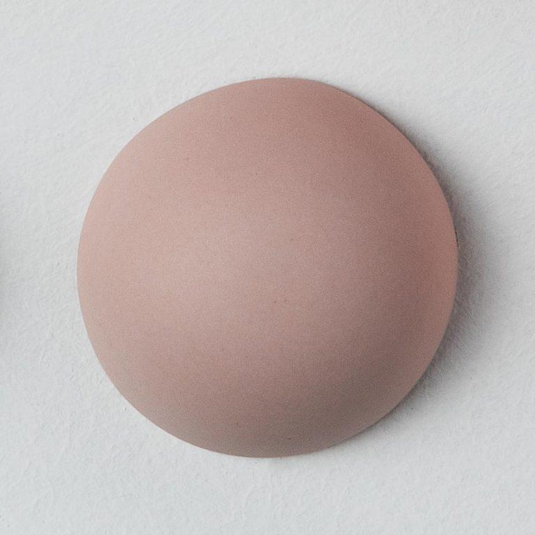 Stain Sample: 20% Orange, 20% Turqoise, 60% Pink