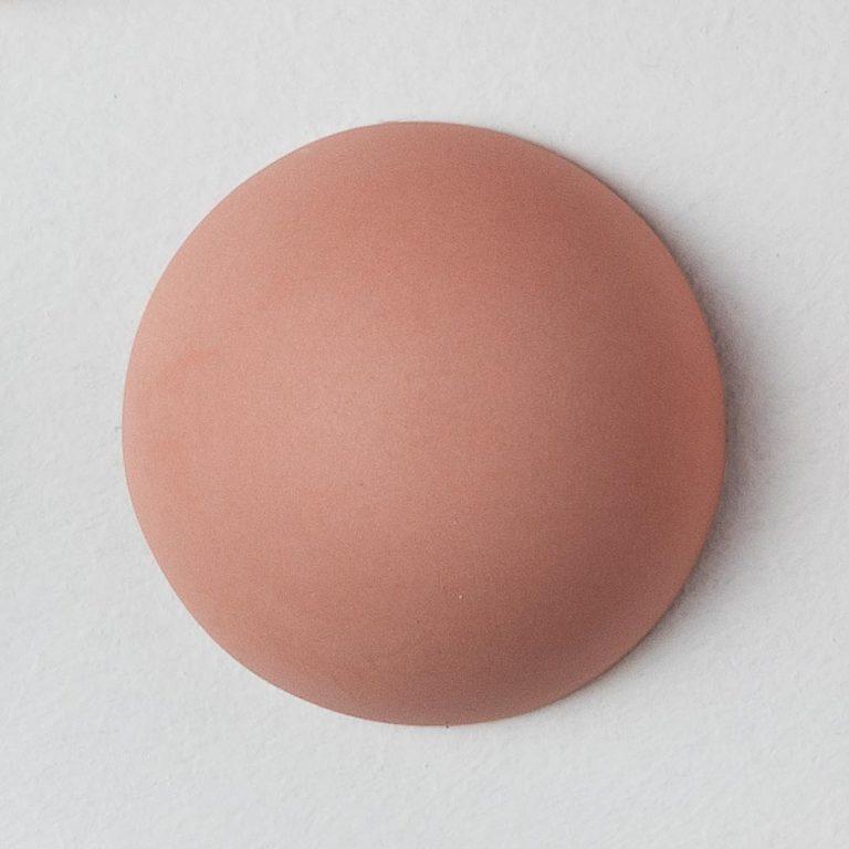 Stain Sample: 40% Orange, 20% Turqoise, 40% Pink