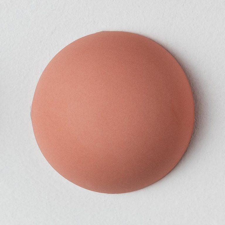 Stain Sample: 60% Orange, 20% Turqoise, 20% Pink