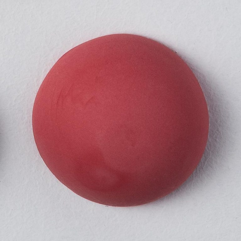 Stain Sample: 0% Praseodymium, 0% Blue, 100% Red